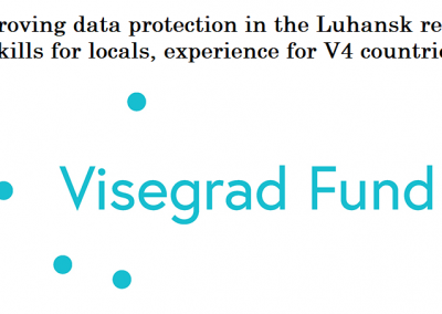 Improving data protection in the Luhansk region – Skills for locals, experience for V4 countries